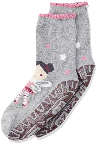 Sterntaler Mädchen Glitzer-Flitzer AIR Fee Socken, Silber Mel, 26
