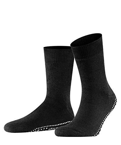 FALKE Haussocken Cosyshoe Schurwolle Größe 37-46 Herren schwarz grau viele weitere Farben verstärkte Hüttensocken ohne Muster atmungsaktiv einfarbig Noppendruck rutschhemmend auf der Sohle 1 Paar