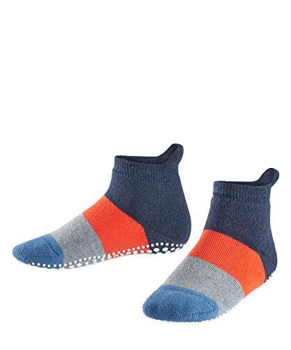 FALKE Unisex Kinder Socken, Colour Block Catspads K CP-12022, Blau (Navy Blue Melange 6490), 27-30