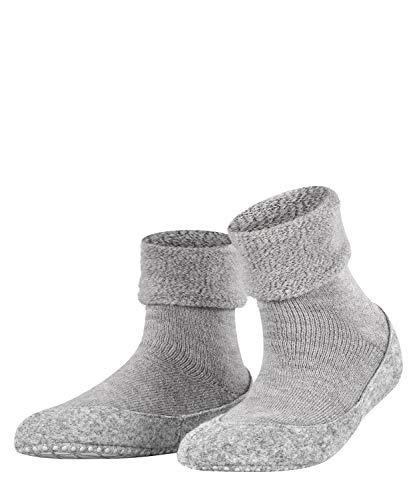 FALKE Haussocken Cosyshoe Schurwolle Baumwolle Damen schwarz grau viele weitere Farben verstärkte Hüttensocken ohne Muster atmungsaktiv Noppendruck rutschhemmend auf der Sohle 1 Paar