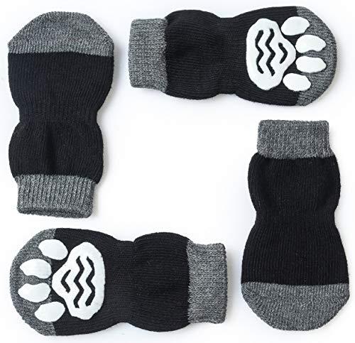 Pet Heroic Indoor Anti-Rutsch Socken für Hunde und Katzen  8 Größen von S bis 5XL für kleine-riesige Tiere   Pfotenschutz und Traktion Dank Silikon-Gel