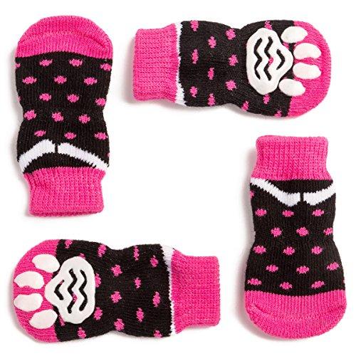 Pet Heroic Indoor Anti-Rutsch Socken für Hunde und Katzen -6 Größen von S bis 3XL für kleine-riesige Tiere - Pfotenschutz und Traktion Dank Silikon-Gel